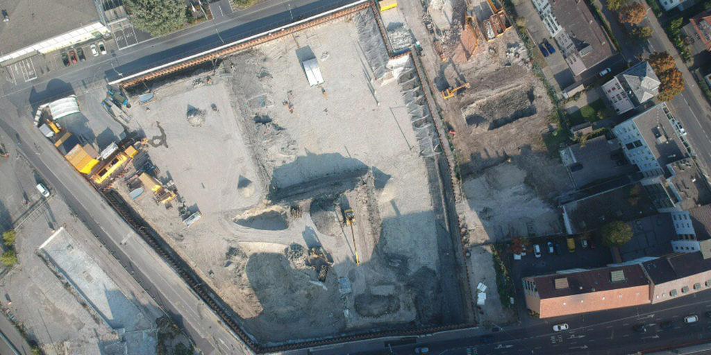 Luftaufnahme des entstehenden Campus Biel/Bienne