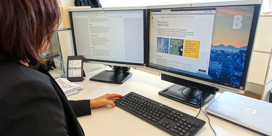 Arbeit am Webportal