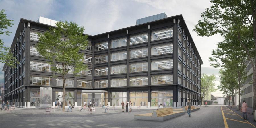 Visualisierung des entstehenden Campus Biel/Bienne