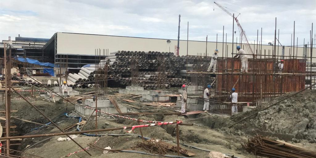 Baustelle im Industriepark