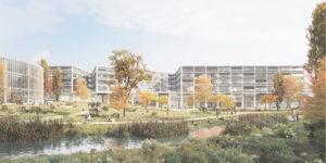 Aussenansicht des zukünftigen Campus Bern
