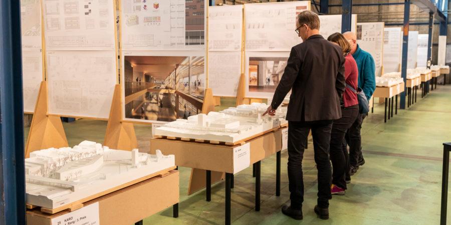 Ausstellung des Architekturwettbewerbs zum Campus Bern